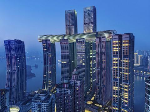Pencakar Langit Horizontal Membentang 300 Meter di Chongqing