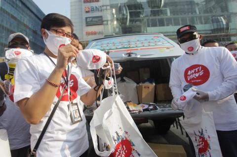 KPK Sampaikan Pesan Antikorupsi Lewat Masker