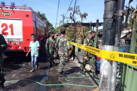 Asrama TNI di Bali Terbakar