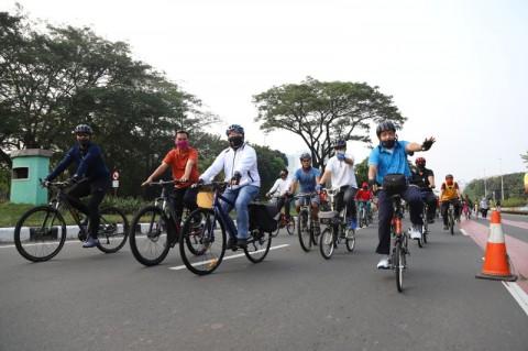 6 Kawasan di Jakut Dijadikan Jalur Pesepeda