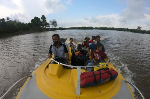 Wisatawan Mulai Padati Danau Tangkas Jambi