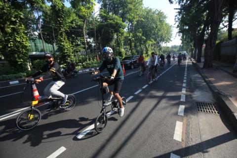 Jalur Khusus Sepeda di Surabaya Ditambah