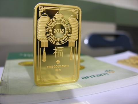 Harga Emas Antam Naik Rp7.000/Gram