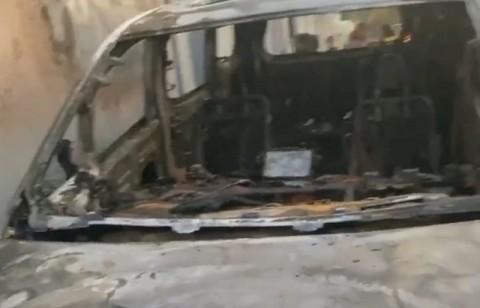 Polisi Olah TKP Pembakaran Mobil Via Vallen