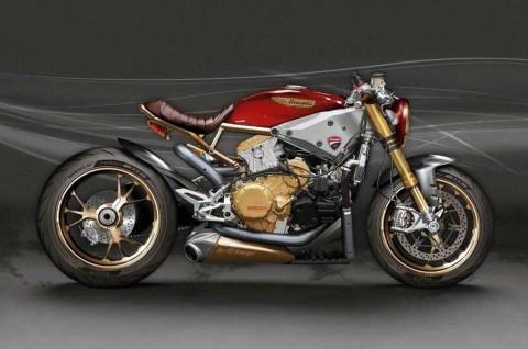 Tampilan Keren Ducati 1199 Panigale Super Cafe Racer