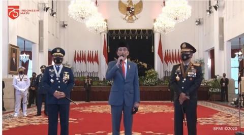 Jokowi Pantau Virtual Kamtibmas di Enam Wilayah