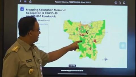 Zona Merah Covid-19 di Jakarta Tersisa 1 Kelurahan
