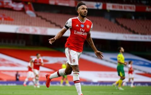 Fakta Menarik Usai Arsenal Bantai Norwich: Aubameyang Cetak Rekor