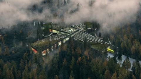 Desain Memukau Pabrik Furnitur di Tengah Hutan