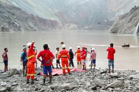 113 Penambang Giok Tewas Tertimbun Lumpur di Myanmar