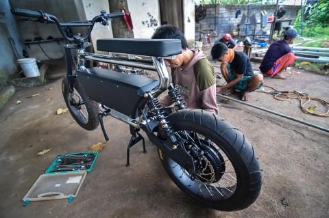 Sepeda Listrik Produksi IKM Lombok Tembus Pasar Luar Negeri