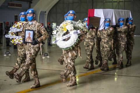 Prajurit TNI Gugur dalam Misi PBB Diganjar Kenaikan Pangkat