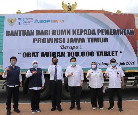 Pemeirntah Sumbang 100 Ribu Avigan ke Jatim