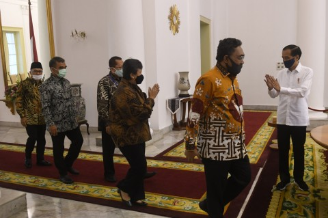Jokowi Bertemu Pimpinan MPR Bahas Sidang Tahunan dan RUU HIP
