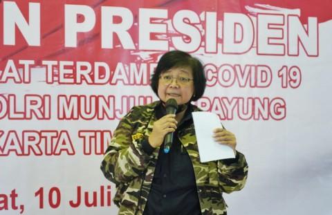 Menteri Siti: Keluarga TNI-Polri Modal Bangsa Indonesia Maju