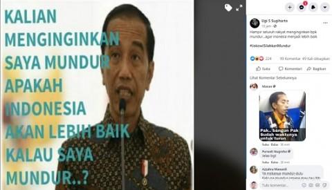 [Cek Fakta] Jokowi Menyatakan <i>'Apakah Indonesia Lebih Baik Kalau Saya Mundur'</i>? Ini Faktanya