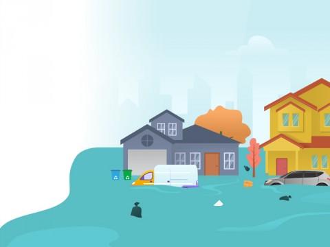 Sintang Kalbar Dilanda Banjir Hingga 10 Meter