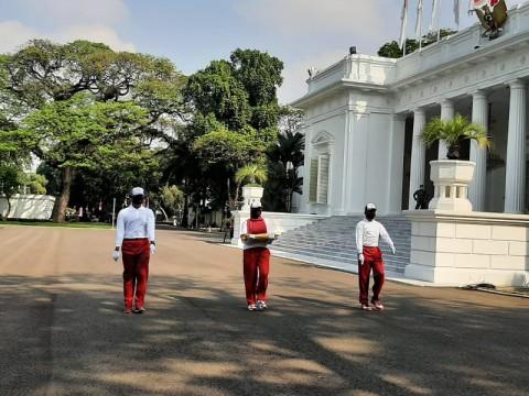 Istana Kepresidenan Gelar Simulasi Pengibaran Bendera
