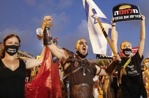 Ribuan Warga Israel Protes Penanganan Covid-19