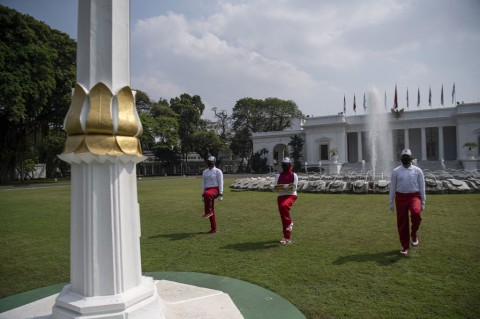 Simulasi Pengibaran Bendera Digelar di Istana Merdeka