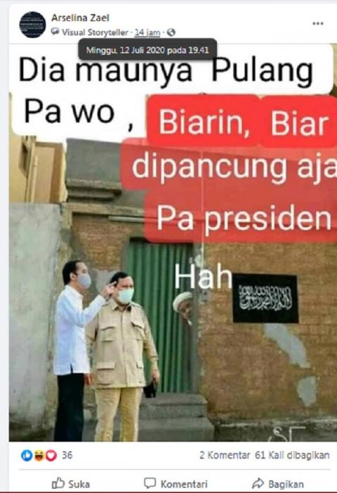[Cek Fakta] Foto Penampakan Jokowi dan Prabowo di Depan Rumah Habib Rizieq, Arab Saudi? Ini Faktanya