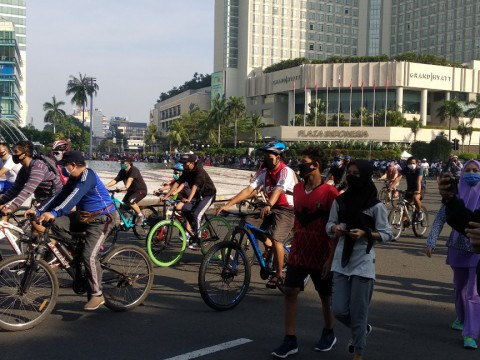 Pesepeda Dilarang Melalui Kawasan Sudirman-Thamrin di Akhir Pekan