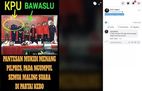[Cek Fakta] Ketua KPU dan Bawaslu Bertemu Megawati untuk Mencuri Suara Pilpres? Ini Faktanya