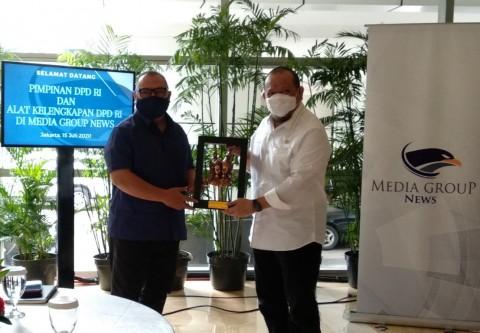 DPD Bersilaturahmi ke Media Group