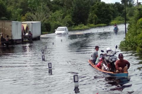 Sejumlah Wilayah di Kapuas Kembali Terendam Banjir
