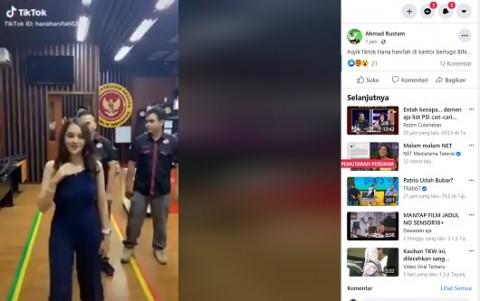 [Cek Fakta] Video Artis FTV Hana Hanifah Joget Tiktok di Kantor BIN? Ini Faktanya