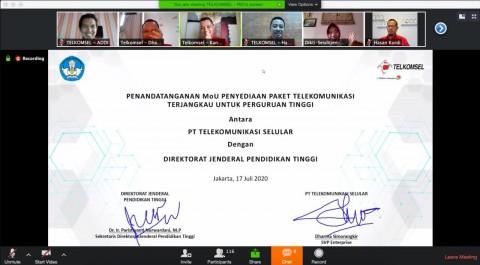 Telkomsel dan Kemendikbud RI Sediakan Paket Spesial Perguruan Tinggi