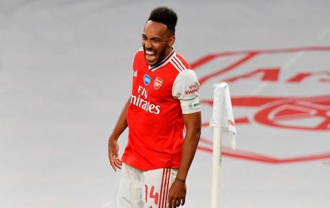 Arsenal ke Final, Arteta Optimistis Perpanjang Kontrak Aubameyang