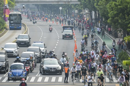 Dishub DKI Diminta Tiadakan Kegiatan Bersepeda di Sudirman