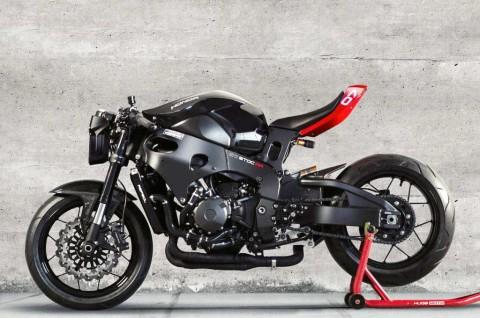 Modifikasi Honda CBR1000RR Bergaya Cafe Fighter