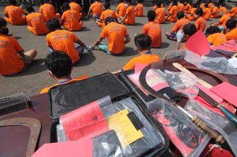 Polrestabes Surabaya Tangkap 381 Tersangka Selama Operasi Sikat Semeru 2020