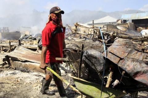 Kebakaran di Pasar Youtefa Diduga Akibat Korsleting