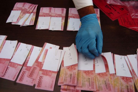 Polisi Ringkus Empat Pengedar Uang Palsu