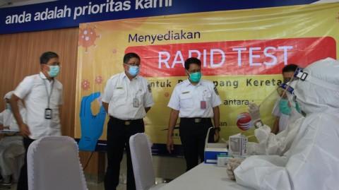 KAI-RNI Sediakan Tes Cepat Covid-19 di Stasiun Kereta Api