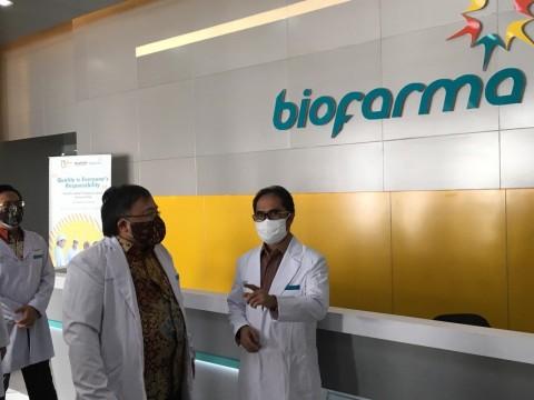 Menristek Pastikan Bio Farma Siap Produksi Vaksin Covid-19