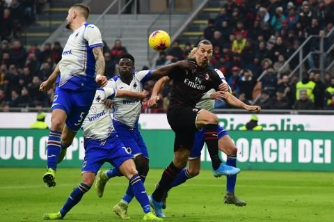 Ibrahimovic 2 Gol, Milan Bantai Sampdoria