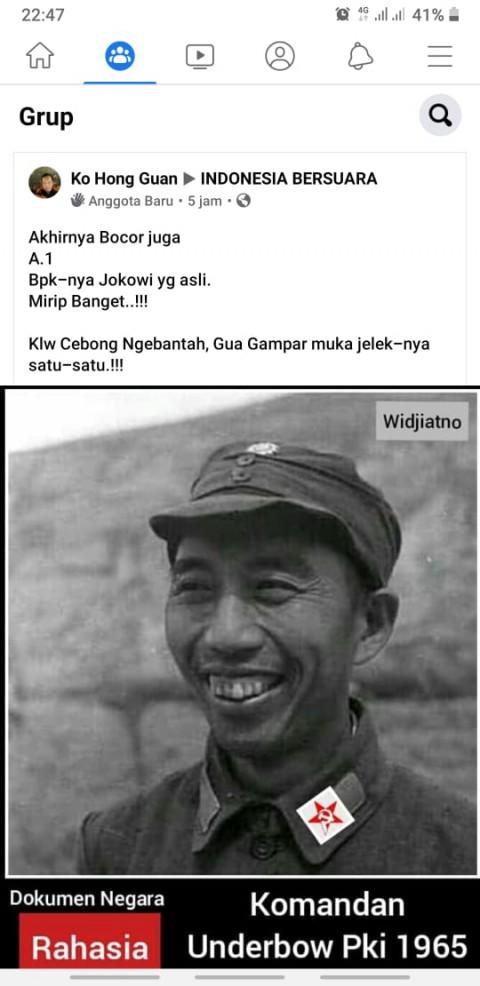 [Cek Fakta] Foto Ayahanda Jokowi Seorang Komandan PKI? Ini Faktanya