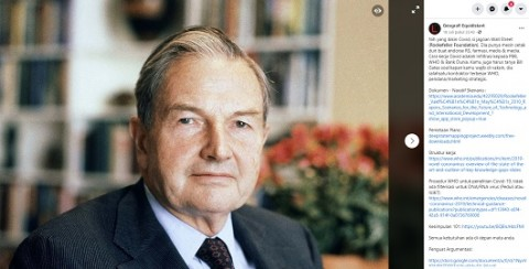 [Cek Fakta] Rockefeller Foundation Pencipta Covid-19 di Dunia? Ini Faktanya