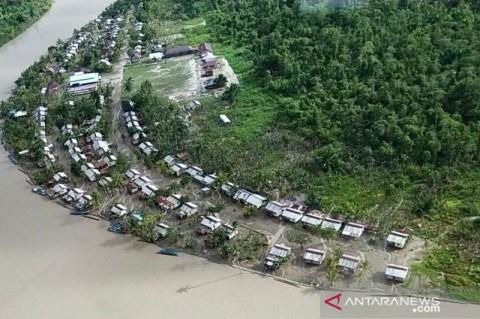 Dua Kampung Pesisir Mimika Masih Terendam Banjir
