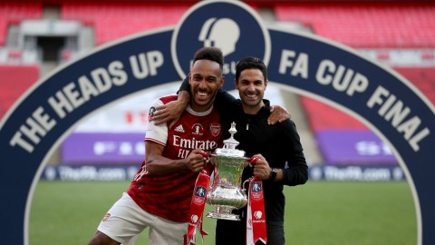 Usai Juara Piala FA, Arteta Yakin Aubameyang Bertahan di Arsenal