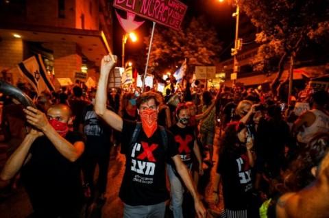 Demo di Depan Rumah PM Israel Kembali Berlanjut