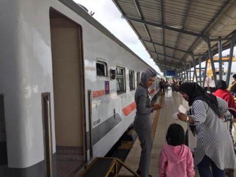 Penumpang Kereta Tiba di Jakarta Naik 45,7%