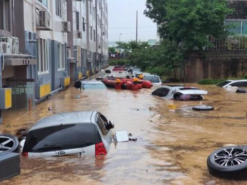 Hujan Deras Guyur Korsel, 6 Orang Tewas