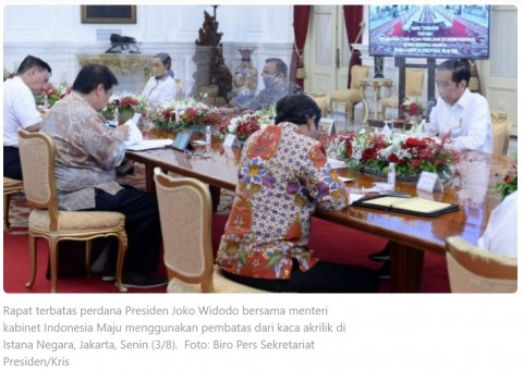 Penjelasan Istana Soal Foto Jokowi Tak Bermasker