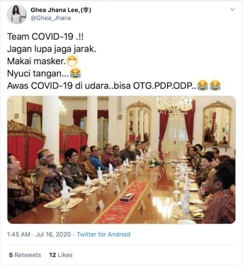 [Cek Fakta] Foto Jokowi Tak Jaga Jarak saat Bertemu Para Komedian di Istana Negara? Cek Faktanya