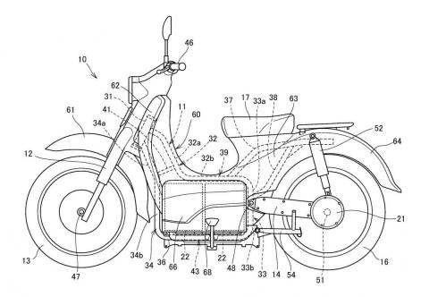 Terkuak Desain Paten Honda Super Cub Listrik